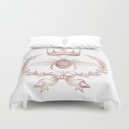 Queen Bee in Rose Gold Pink Duvet Cover