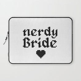 nerdy bride wedding geek computer gift Laptop Sleeve