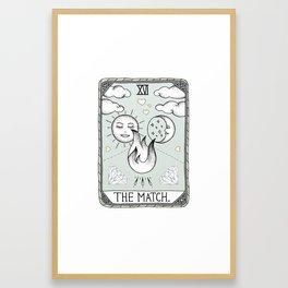 The Match Framed Art Print