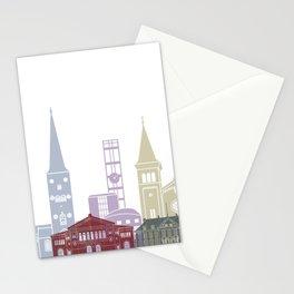 Aarhus skyline Poster Stationery Cards