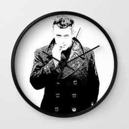 J ames  Dean Smoking - Fan Art Wall Clock