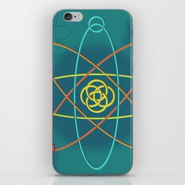 Line Atomic Structure iPhone Skin