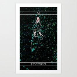 A Tarot of Ink Major Arcana XX Judgement Art Print