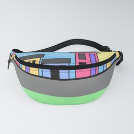 Pastel Daytime Houses Fanny Pack