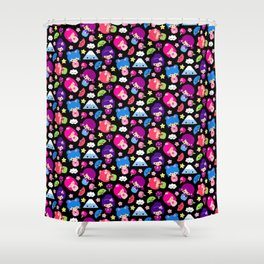 Kawaii Kokeshi J-Pop! Shower Curtain
