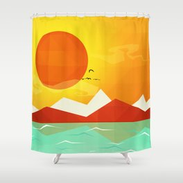 Inferno hot day - and we love it! Shower Curtain