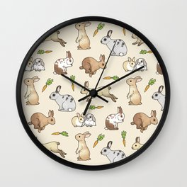 Rabbits Wall Clock