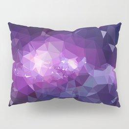 Purple galaxy 2 low poly Pillow Sham
