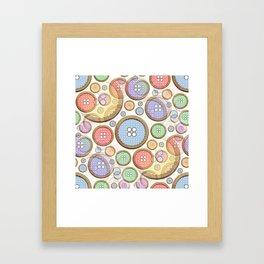 Rainbow Buttons part 2  Framed Art Print