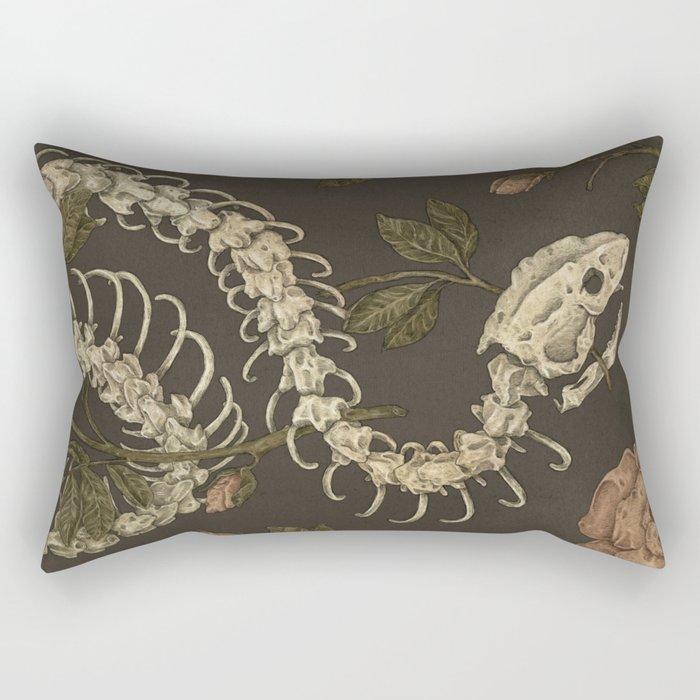 Snake Skeleton Rechteckiges Kissen