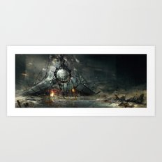 Desert temple Art Print