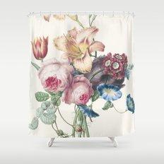 A Bouquet - Vintage Botanical Print Shower Curtain