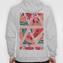 Pink Watermelon Pattern Hoody