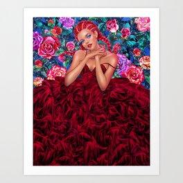 Vday Scarlett Art Print
