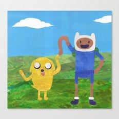 Finn And Jake! Canvas Print