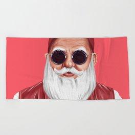 Hipstory -  Santa Claus Beach Towel