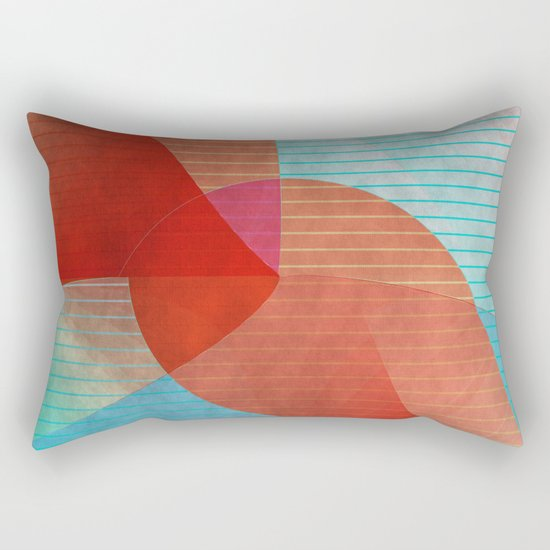 Multicolored abstract 2016 / 015 Rectangular Pillow