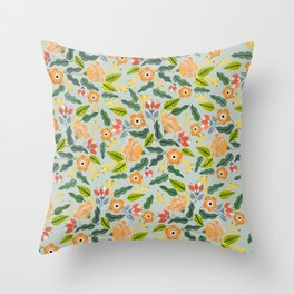 Happiest Flowers Throw Pillow