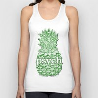 psych Tank Tops featuring Psych Pineapple! by Alohalani