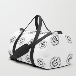 Passion flowers sketched Duffle Bag