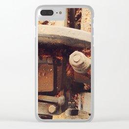 Rustic vintage metal tools Clear iPhone Case