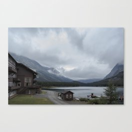 The View From Many Glacier Hotel Canvas Print