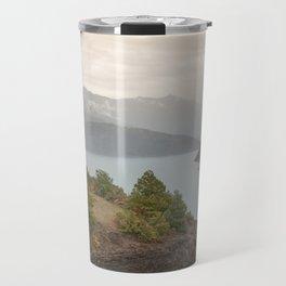 Lakeview at sundown Travel Mug