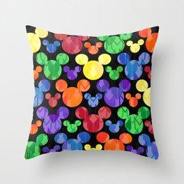 Mickey Mouse Rainbow Arrows Throw Pillow