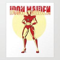 iron maiden Art Prints featuring Iron Maiden by wokinor