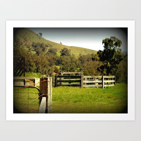 Cattle Yards Art Print
