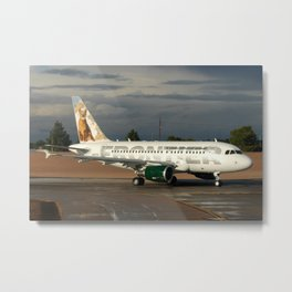 Frontier Airlines A318 Metal Print