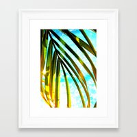 palm tree Framed Art Prints featuring Palm by Stephanie Stonato