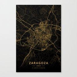 Zaragoza, Spain - Gold Canvas Print