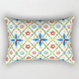 Millefiori Heraldic Lattice Rectangular Pillow