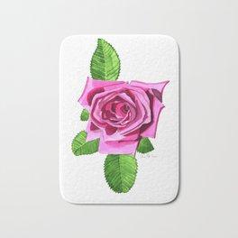 All American Beauty Rose Bath Mat