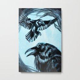 Hugin and Munin Metal Print