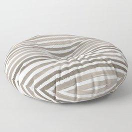 Simply Shibori Stripes Earth Brown on Lunar Gray Floor Pillow