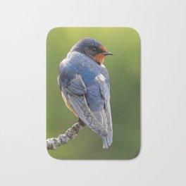 Profile of a Barn Swallow Bath Mat
