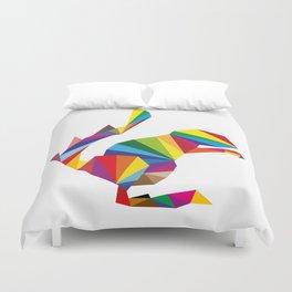 rainbow squirrel Duvet Cover