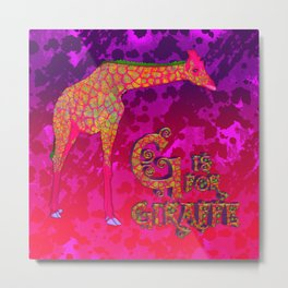 G is for Giraffe (ckc) Metal Print