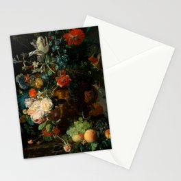 """Jan van Huysum """"Still life with flowers and fruits"""" Stationery Cards"""