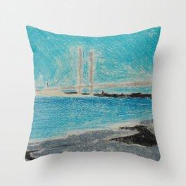 Indian River Inlet Bridge Throw Pillow