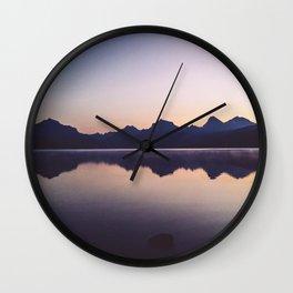Sunrise over Glacier Wall Clock