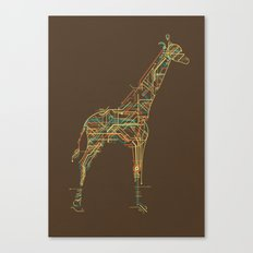 Electric Giraffe Canvas Print