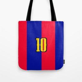 soccer team jersey number ten Tote Bag