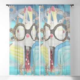 Time Bunny Voyage Sheer Curtain