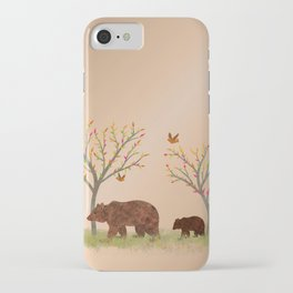Walk In The Woods With Mama Bear iPhone Case