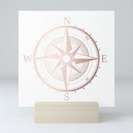 Rose Gold Compass Mini Art Print