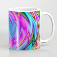 60s Mugs featuring Psychedelic 60s by Alice Gosling