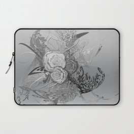50 Shades of lace Silver Silver Laptop Sleeve